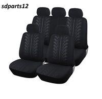 Peugeot 307 308 206 207 208 3008 Housses Couvre Sieges Noir 9 Pcs