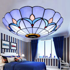 Stained Glass Ceiling Fixtures Flush Mount Lights Parlor Room Pendant Lamps