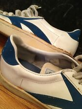 Vintage U.S.A. OLYMPIC SuperStar White Leather Shoes. 9 D