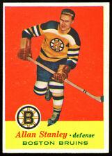 1957 Topps Hockey #15 Allan Stanley, Boston Bruins.  ExMt