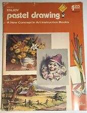 1972 CRAFTINT Enjoy PASTEL DRAWING Kmart Price Tag New Concept HOW TO BOOK Art
