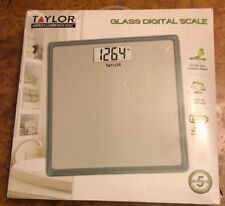 Taylor Precision Products Digital 400 lb capacity Bathroom Scale , Grey With