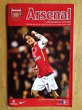 Arsenal v Newcastle United 2007/08 FA Cup programme