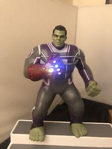"Marvel Avengers Endgame Power Punch Hulk and Gauntlet 14"" Action Figure Sound FX"