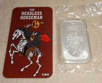 The Headless Horseman Pumpkin Head .999 Silver Art Bar Proof CMG