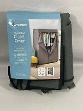 Whitmor COVER ONLY Double Rod Closet Heavy Duty Zipper Gray