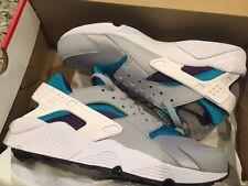 Men's Nike Air Huarache Shoe WOLF GREY/WHITE/AQUATONE Size 12