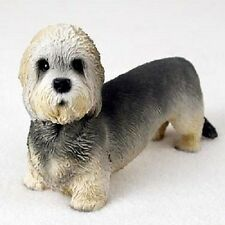 Dandie Dinmont Terrier Dog Hand Painted Figurine Resin Statue Collectible puppy