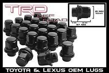 24 Toyota Lug Nuts Mag Seat 12x1.5 Black Fits Tacoma FJ Cruiser Tundra Sequoia