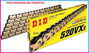 DID CADENA 520VX3 +2 ENLACES DUCATI Monster / ABS 696 08-14 G/B 110 ENLACES