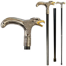 NEW Eagle Head Cane - Walking Stick Top & Bottom Pieces Unscrew For Easy Travel