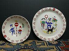 Vintage NORWAY STAVANGERFLINT Traffikk Plate/Bowl Inger Waage DESIGN 3028 MCM