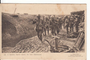 "WW1 A wiring party going to the trenches ""Daily Mail"" War Pictures"
