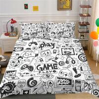 Milsleep 2021 Bedding Set Boy Play Game Design Comforter Cover Twin/Full Size