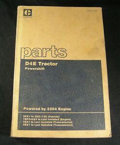 CAT Caterpillar D4E Tractor Parts Manual Book Catalog List S/N 28X