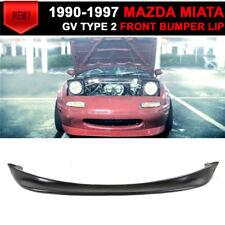 For 90-97 Mazda Miata MX-5 Gv Type 2 Style Front Bumper Lip Spoiler