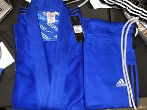 adidas Contest Jiu Jitsu Gi A3 Blue w/ Black Stripes