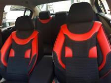Schonbezüge Autositzbezüge für Opel Astra schwarz-rot V159378 Vordersitze
