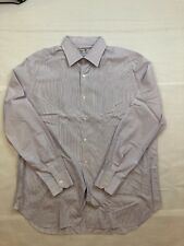 Luxurious Men's Finamore Napoli Shirt Sz 17.75-36 Made in Italy MOP Buttons