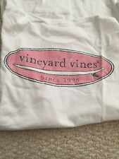 Vineyard Vines Mens L/s White Surfboard Logo Tee Shirt Size XL