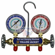 NEW!! YELLOW JACKET 41312 **MANIFOLD ONLY**, PSI, R134a/404A/507, °F