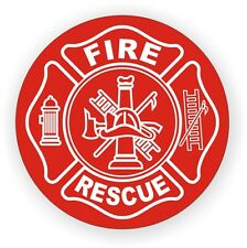 Fire Rescue Helmet Decal / Hard Hat Sticker / Label Firefighter EMT AED CPR