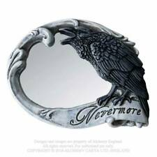 Alchemy Nevermore Compact Mirror, Raven, Skull, Rose, Goth, Halloween