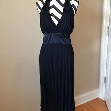 Jones of New York  Evening Shirt Dress Solid Black Polyester Size 8 CD85