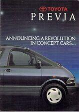 Toyota Previa 1990 UK Market Launch Foldout Sales Brochure