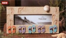 FRAMEOLOGY PANORAMA BEACH SAND SANDALS SCENE PHOTO PICTURE EASEL FRAME 10 x 3