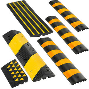 2 Channel Rubber Speed Bump/Car Curb Ramp Parking Lot Vehicle Threshold Ramp