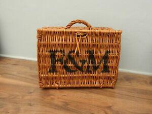 vintage fortnum and mason wicker hamper basket