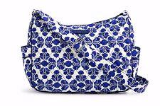 VERA BRADLEY On The Go COBALT TILE Crossbody Bag Purse Shoulder $70 Blue White