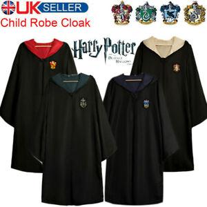 Harry Potter Costume Child Cloak Gryffindor Ravenclaw Slytherin Hufflepuff Robe