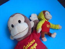"Lot of 2 Curious George plush stuffed animals, 8"" & 17"" Gund Universal Studios"