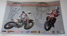2015 Dan & Joe Bromley signed KTM Racing KTM 450 SX-F AMA Flat Track poster