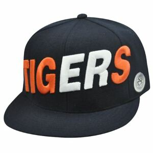 MLB DETROIT TIGERS FLAT BILL HAT CAP NAVY 7 1/4