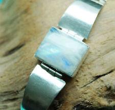 Handgefertigte Armbänder mit Mondstein echten Edelsteinen für Damen