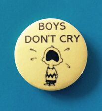 1 INCH THE CURE BOYS DON'T CRY CHARLIE BROWN SNOOPY PEANUTS BUTTON PIN BADGE