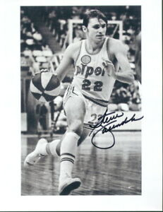 Steve Vacendak Signed ABA Pittsburgh Pipers Photo