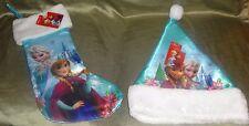 Disney Frozen Christmas Stocking and Hat Set