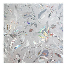3D Frosted Glass Film Sticker Static Cling Office Bedroom Bathroom Window Decor