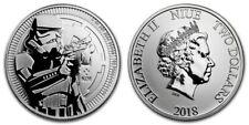 Stormtrooper 2018 Coin .999 Fine Silver 1 oz Star Wars ounec $2 Niue - Lot 3