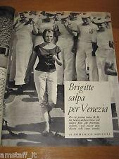 RIVISTA EPOCA 1958/412=BRIGITTE BARDOT=CLIPPING=ARTICOLO FOTO=