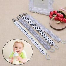 Kids Baby Boy Girl Dummy Pacifier Soother Nipple Leash Strap Chain Clip Holder Z