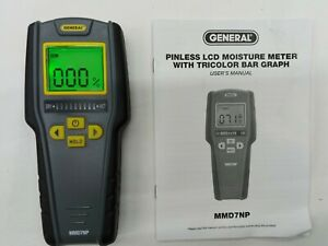 General Tools MMD7NP Pinless, Non-Invasive, Non-Marring Digital Moisture Display