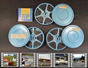 8MM Home Movie Lot Vintage Films 60s Family Travel Nova Scotia Canada Car Race