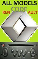 Unlock Pin Code provided RENAULT ^MASTER TRAFIC MEGANE CLIO SCENIC^ Radio Stereo