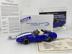 1/24 Danbury Mint 1996 Chevrolet Corvette Grand Sport Blue White WOW