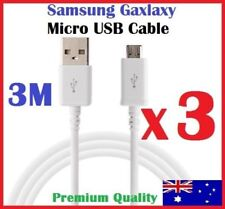 3 X 3M Micro USB Data Charger Cable for SAMSUNG GALAXY S4 S5 S6 S7 Note HTC
